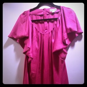 Silky Hot Pink Tunic
